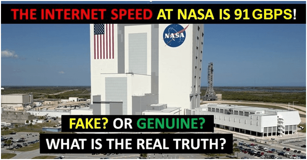 Is the Internet Speed at NASA is 91GBPS?