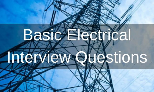 Basic Electrical Interview Questions- Part 1