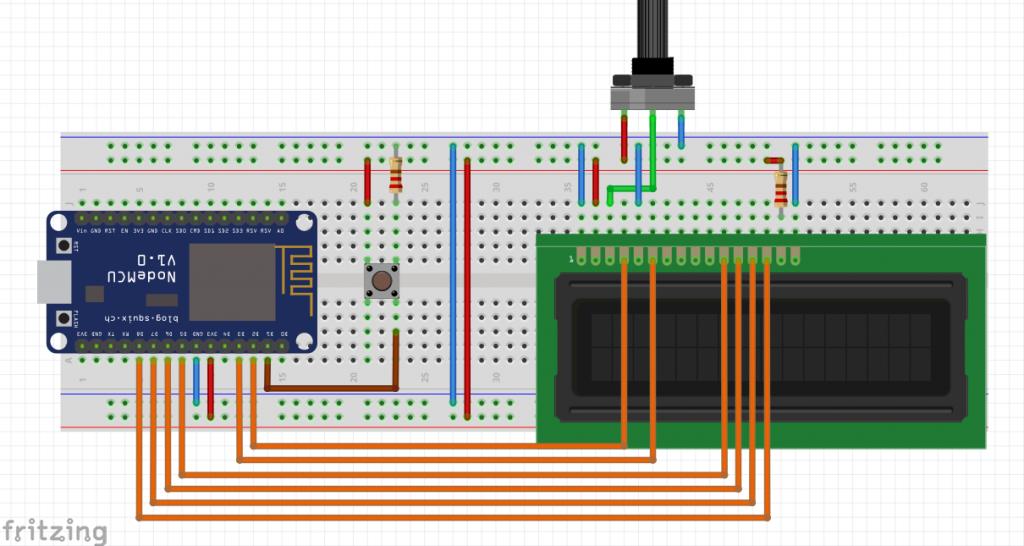 Weather Station Using ESP8266 circuit diagram