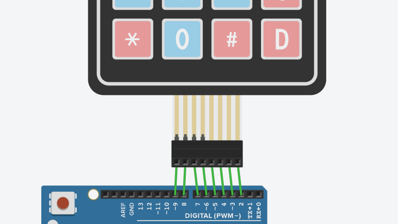 Connection of keypad with Arduino Uno